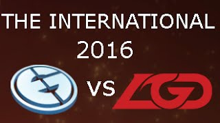 The International 2016 EG vs LGD Group Stage Day 3 Game 1