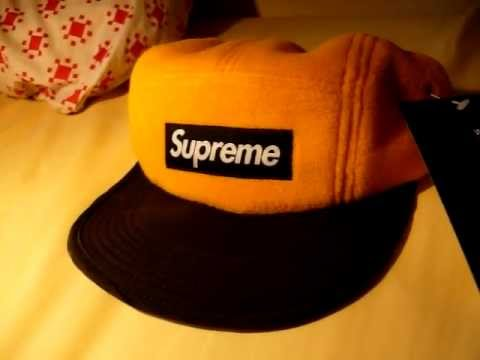 supreme polartec 5 panel cap yellow.MOV