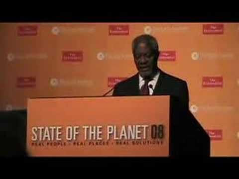 Kofi Annan on how climate change affects the poor