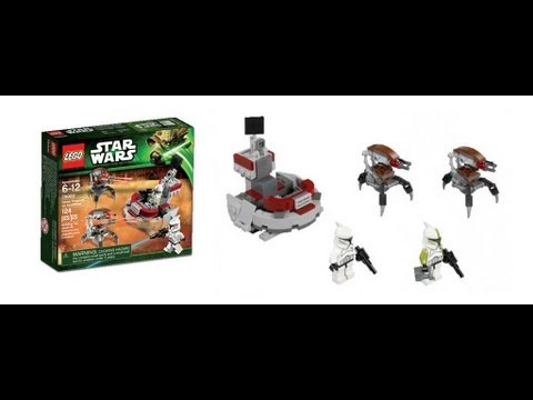 Lego Star Wars Clones vs Droidekas Lego Star Wars 75000 Clone