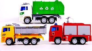 Dump Truck Fire Truck and Garbage Truck for Children Opening Surprise Toys for Kids