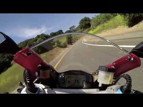 DUCATI 1199 PANIGALE S RIPPING THRU MULHOLLAND HWY