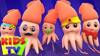 Squid Finger Family   Nursery Rhymes   Kids Songs   Children Rhymes   Kids Tv Cartoon Videos