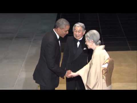 Raw: Obama Arrives at State Dinner in Tokyo