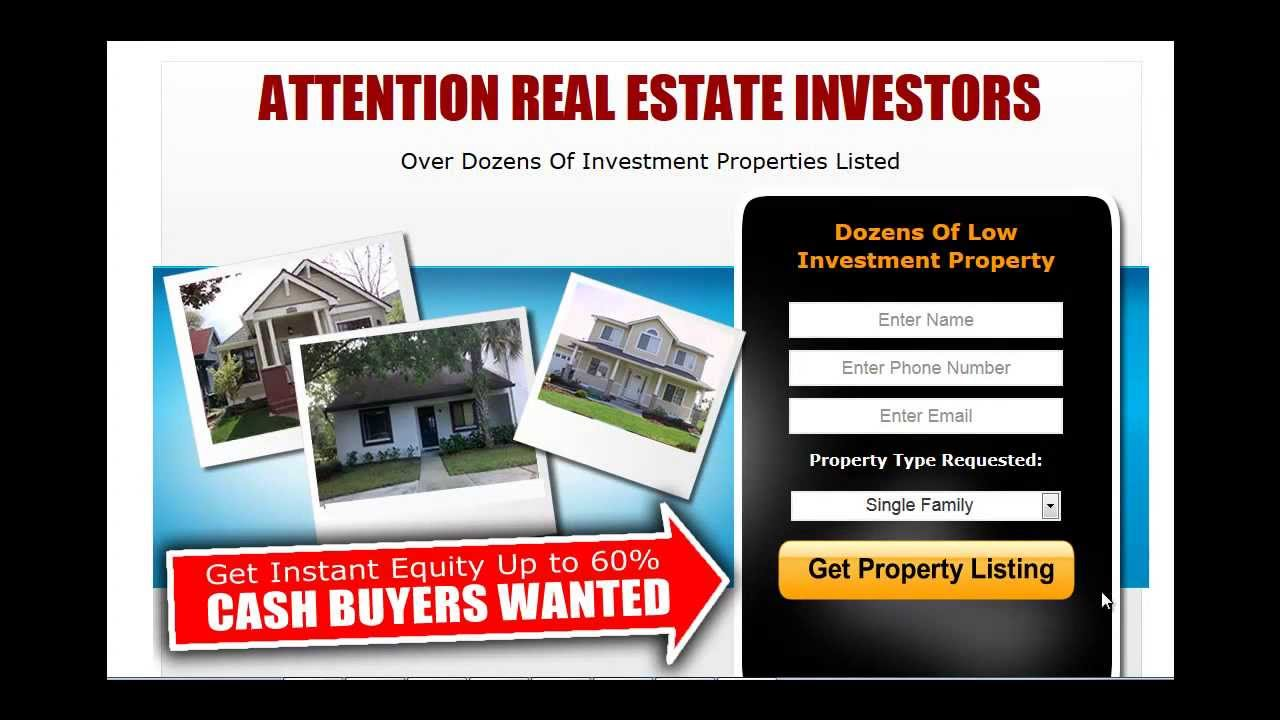 Real Estate Investor Website Templates