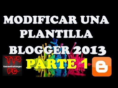 Como crear una pagina web en blogger 2013 PARTE 1