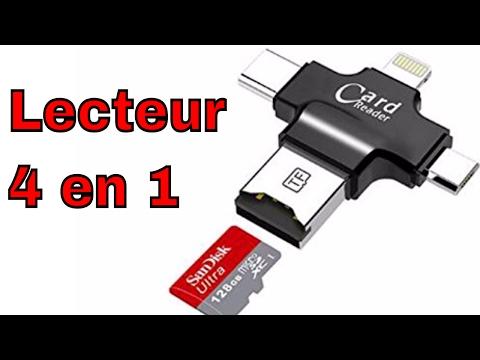 Lecteur 4 en 1 Micro SD a USB C / Micro USB et iPhone IPAD Android Connecteur Review ThinkUnBoxing