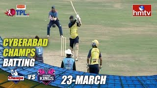 TPL Season 2 Day - 1 | Cyberabad Champs Vs Hyderabad Kings | LB Stadium | hmtv