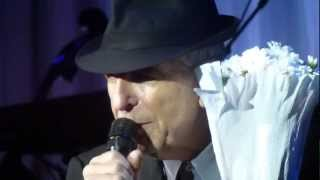Leonard Cohen ~ First We Take Manhattan, Live in Istanbul, 19/09/12