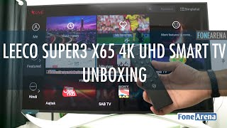 LeEco Super3 X65 4K UHD Smart TV Unboxing, Setup and First Impressions