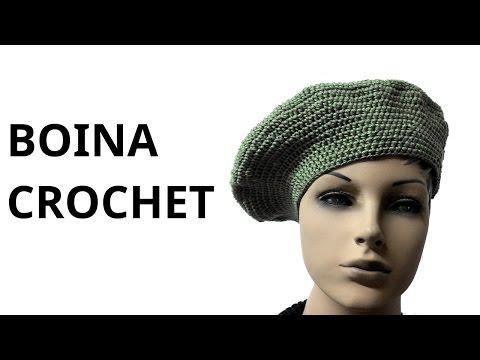Boina Clásica para mujer en tejido crochet tutorial paso a paso.