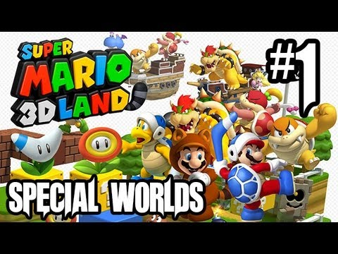 Super Mario 3D Land Gameplay Walkthrough - Part 1 - SPECIAL WORLDS!! (3DS Gameplay HD)