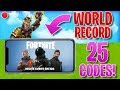 FORTNITE MOBILE CODE GIVEAWAY WORLD RECORD!! | STREAM HIGHLIGHTS #7