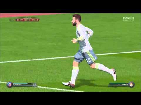 Fifa 16 player career Mode. ATLECTICO MADRID VS REAL MADRID(Derby Match)