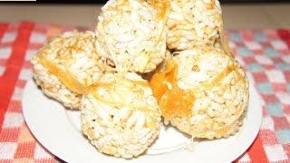 Lai ka ladoo ,Murir Moa or Murmura Ladoo (Puffed Rice Balls) - Thegreatindiantaste.com