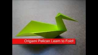 Paper Folding Origami Pelican