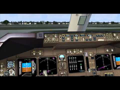 FSX PMDG 747 Professional Heathrow EGLL to San Francisco KSFO Part 2