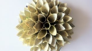 "DIY Tutorial: ""How to make a Paper Dahlia Wreath"""