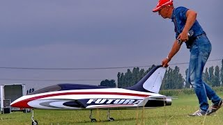 HUGE RC FUTURA MODEL SPORT JET FLIGHT DEMONSTRATION / Euroflugtag Rheidt 2016