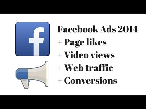 Facebook Ads Tutorial October 2014 for page likes website conversions and video views