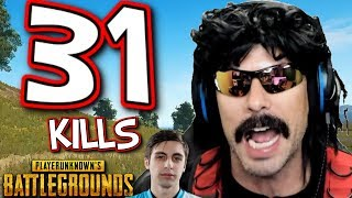 DrDisRespect's 31-KiII Game on PUBG with Shroud!