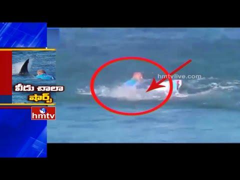 Shocking Video   Shark Attacks Surfer   J Bay Open 2015   World Surf League   HMTV