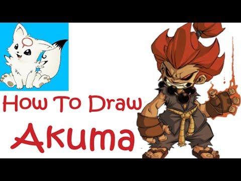 Drawing  Akuma (Gouki)|Street Fighter