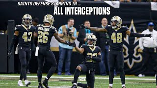 New Orleans Saints || All Interceptions || 2018 Saints Highlights