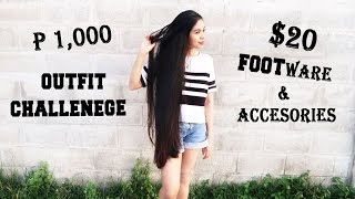 1000 Pesos/$20 Outfit Challenge Plus Foot Wear & Accessories- Beautyklove