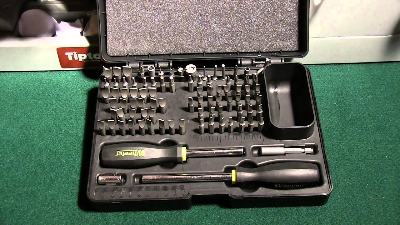 review wheeler engineering deluxe gunsmith screwdriver set youtube. Black Bedroom Furniture Sets. Home Design Ideas