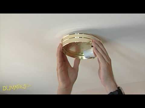 How to Replace Ceiling Light Fixtures For Dummies - YouTube