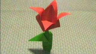 How To Make An Origami Tulip Flower (and Leaf) ...for All (63)