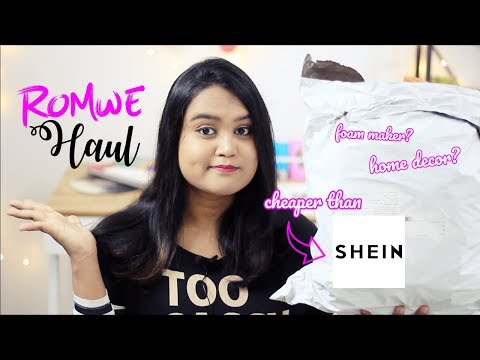 ROMWE HAUL #5 | INDIA | ALL UNDER 500 INR | CHEAPER THAN SHEIN?