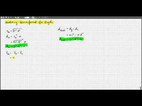 Herleitung Volumen Kugel - Prinzip des Cavalieri