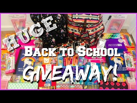 Huge Back to School Giveaway