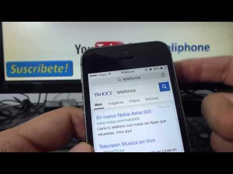 Como poner google como buscador en safari en iPhone 5S 5C 5 4 iOS 7 español Channeliphone