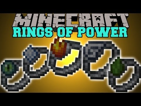Minecraft: RINGS OF POWER (FLY. TELEPORT. & CREATE LAVA!) Mod Showcase