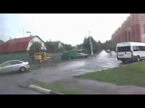 Поездка по городу Домодедово на маршрутках / A trip to the Domodedovo