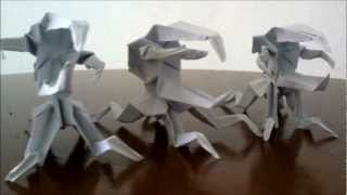 Origami Paper Monsters(bug Warrior, Unicorn Bug, D