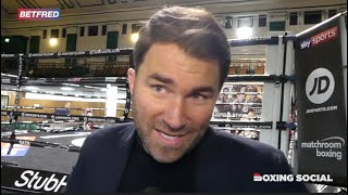 """I BELIEVE WILDER WILL FIGHT FURY NEXT!"" EDDIE HEARN ON BENN KO OF KOIVULA/WHYTE/WBC/LOMA-CAMPBELL"