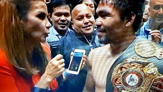 MANNY PACQUIAO VS MATTHYSSE KNOCKOUT!! FULL INTERVIEW POST FIGHT