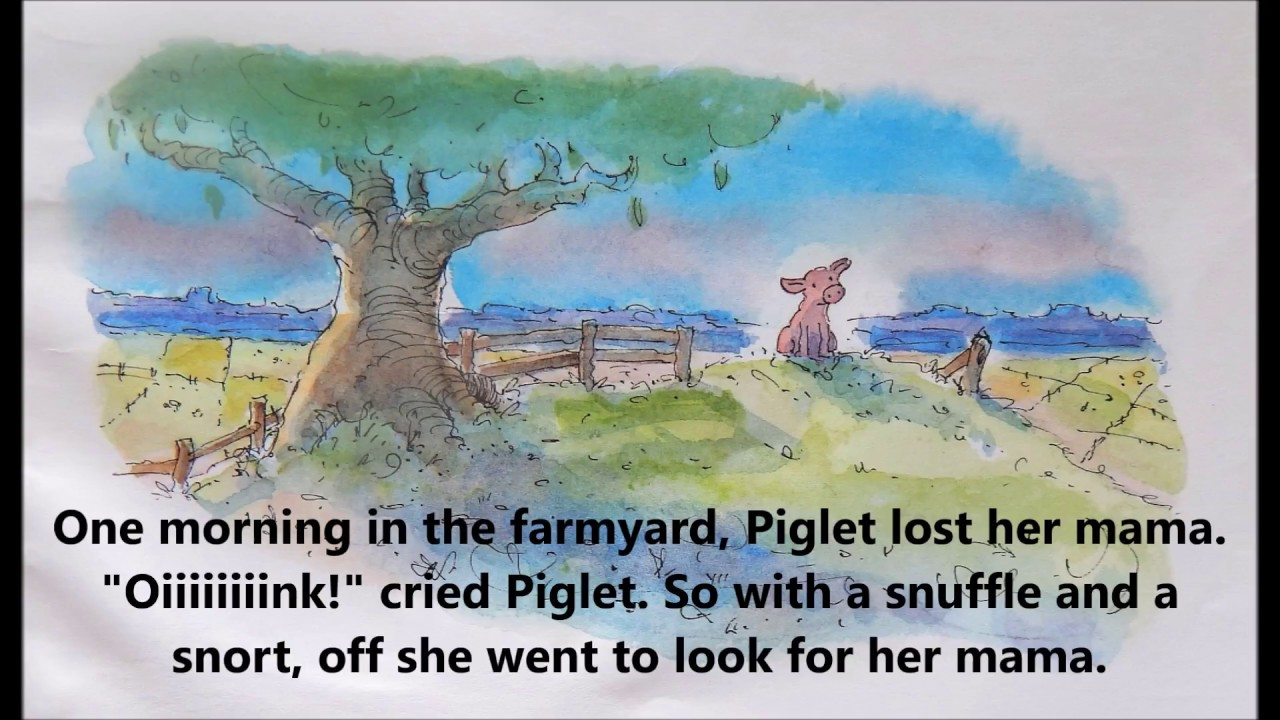 Piglet and her books