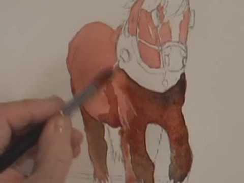 Tutorial Watercolor Anime Watercolor Animals Part 1