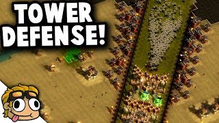 TOWER DEFENSE CUSTOM MAP! | They Are Billions Custom Map Gameplay