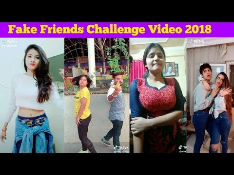 Fake Friends Challenge tik tok musically 2018||FAKE FRIENDS CHALLENGE Compilation scream challenge