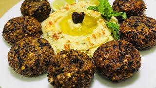 Falafel recipe . Kidney beans falafel