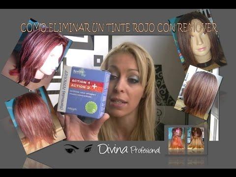 COMO QUITAR EL TINTE ROJO CON REMOVER (Aclarar el pelo sin decoloracion)