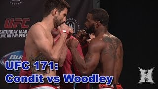 UFC 171 Weigh-in: Carlos Condit vs Tyron Woodley (HD / Complete)