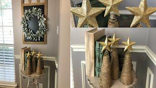 DOLLAR TREE DIY | FARMHOUSE MINI CHRISTMAS TREES