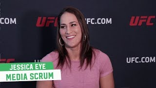 Jessica Eye talks bumping into Valentina Shevchenko at UFC PI; Thinks she'll be a better champion